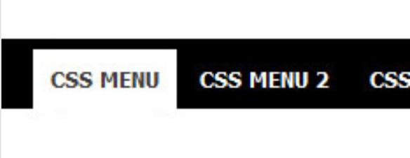 html menu horizontal
