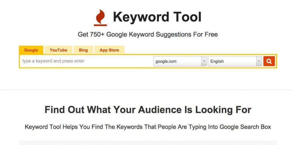 công cụ Keyword Tool