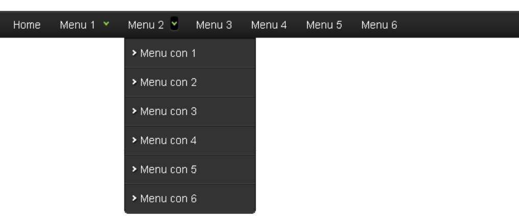 thanh menu ngang